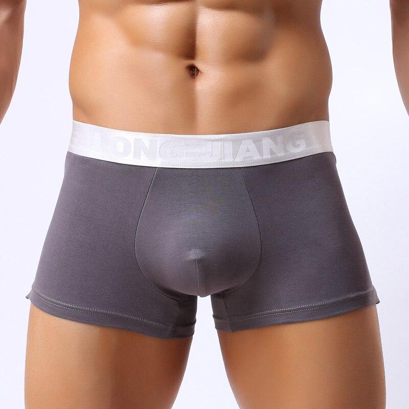 LJ Brand Men Underwear Modal Boxers 2016 New Sexy Men Comfy Boxer Shorts Sleepwear Gay Penis Pouch Low Waist Underpants Cuecas