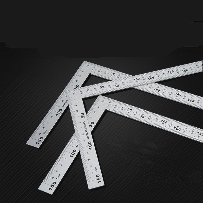 1pcs Stainless Steel Angle Square Broadside Knife-Shaped 90 Degree Angle Blade Ruler Gauge Blade Measuring Tool 150 X 300mm