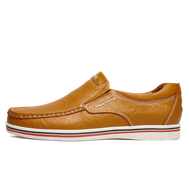Hand Sewing Men's Casual Leather Shoe