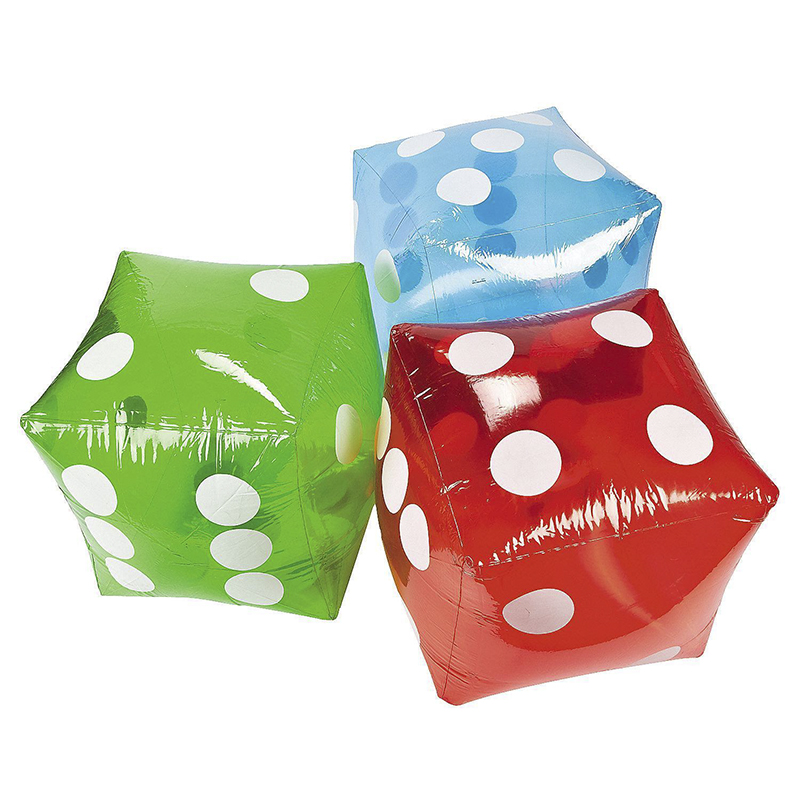 1pc 32cm Inflatable Blow Up Cube Dice Casino Poker Party Decorations Pool Beach Toy