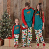 2017 Christmas Colored Deer Mi Deer Printed Parenting Suits Mother Daughter Father Son Toddler Pajamas Family