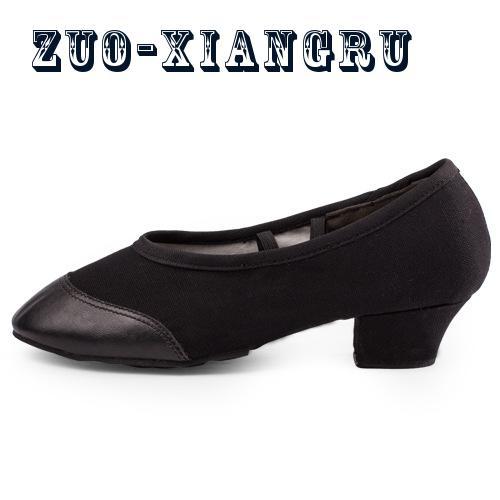 1cbd7c3ca9 Novo Jazz Deslizar Sobre Tênis De Dança Sapatos de Dança Para Senhoras  Preto Tan Sapatos de Dança Jazz Sapatos de Dança Para Adultos Confortável  em Sapatos ...