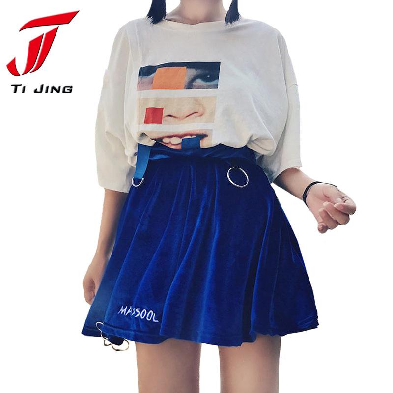 HTB1F8k5RVXXXXbQXFXXq6xXFXXXQ - summer high waist velvet trendy woman mini skirt PTC 187