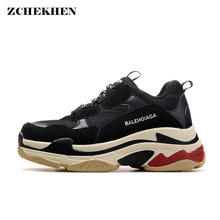 Men dad sneakers casual Shoes Air Mesh yellow chunky Sneakers Outdoor   Walking Shoes Zapatillas Hombre Breathable(China)