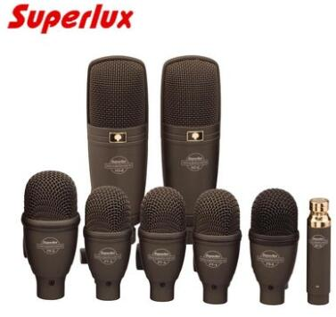 superlux drkf5h3 professional drum microphone kit 8 set microphones with carry case package in. Black Bedroom Furniture Sets. Home Design Ideas