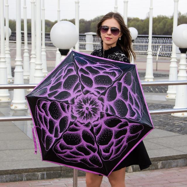 (3pcs πάρτε 1pc δωρεάν) Πέντε φορές 210Tpongee 5 φορές μαύρη επικάλυψη αντι-UV ομπρέλα κράμα fiberglass πεταλούδες αγάπη λουλούδια ομπρέλα