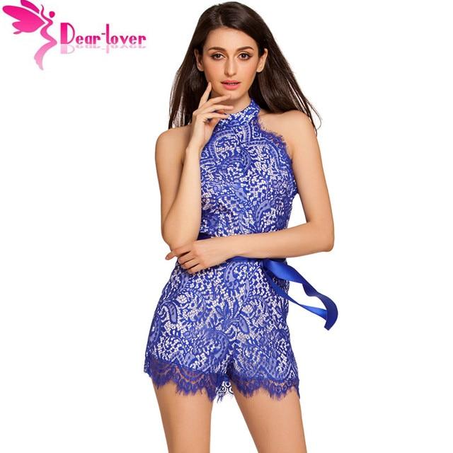 cffb499008f DearLover combinaison short femme Jumpsuit Shorts Black Lace Nude Illusion  Stylish Romper Women Summer Playsuit Jumpsuit LC64027