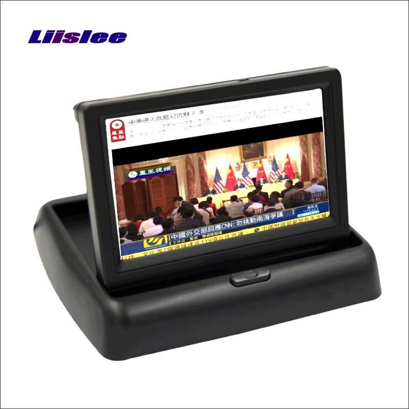 Liislee Pour Mini Cooper R55 R56 R57 R60 R6 Pliable Moniteur De Voiture écran D'affichage/HD TFT LCD NTSC PAL TV Caméra de Recul Système