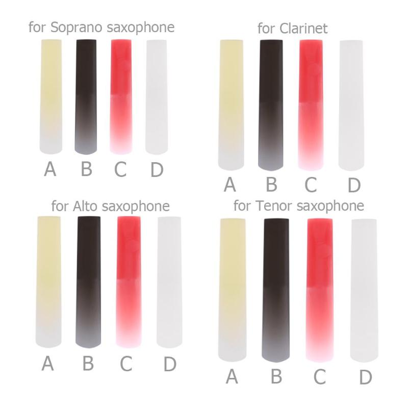 Resin Plastic Sax Saxophone Reed Woodwind Instrument Parts Accessories Clarinet/Soprano/Alto/Tenor Sax 4 Colors