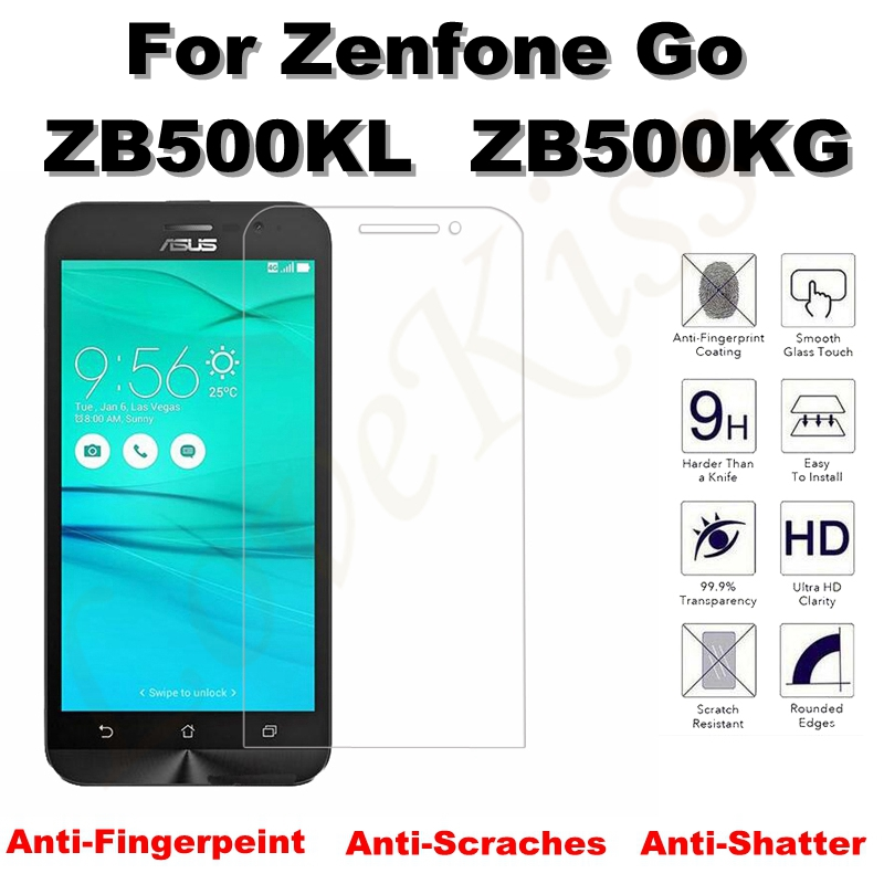 Explosion Proof 9H Tempered Glass Screen Film For ASUS Zenfone Go ZB500KL ZB500KG 5.0inch Case Cover Screen Protector Guard Film