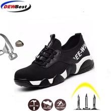 Воздухопроницаемая безопасная обувь с подошвой арамида для мужчин и женщин, легкие летние рабочие сандалии для пирсинга, сетчатые кроссовки