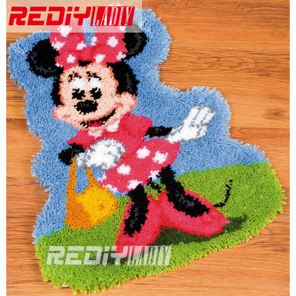 Aliexpress Com Buy 3d Latch Hook Rug Kits Miss Mouse Diy