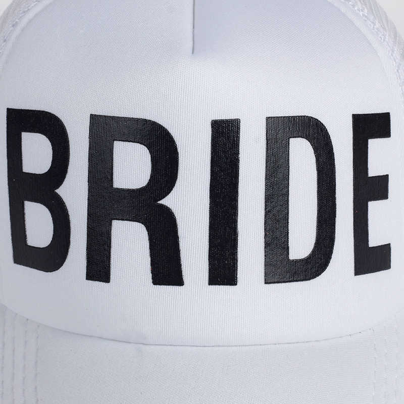 474328992c9 ... BRIDE DRINKING TEAM Print Baseball Caps New Style Hats Women Wedding  Preparewear White Black Bachelor party
