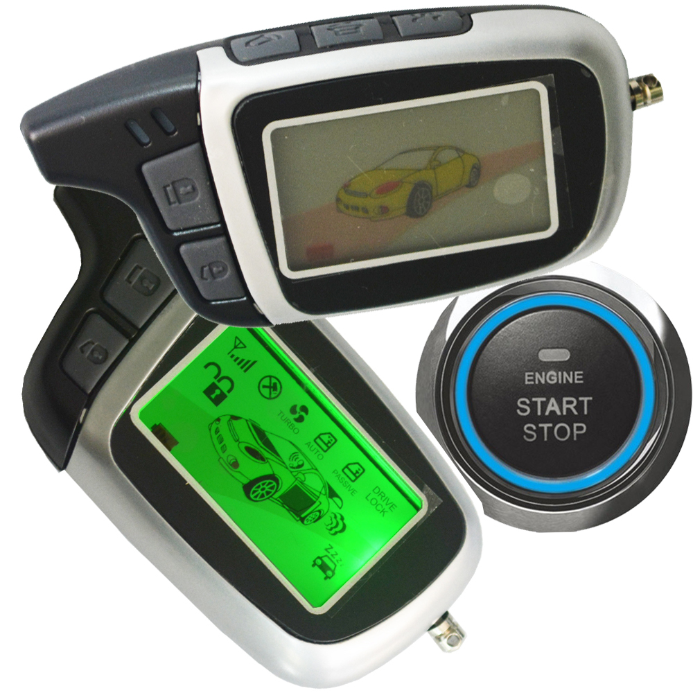 ignition start stop button auto car alarm system remote keyless entry central lock unlock car door support diesel or petrol car smart car security alarm system ignition start stop button auto keyless entry car door central lock remote engine start stop