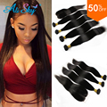 7A Peruvian Straight Hair 3 Bundles With Closure Wonder Beauty Peruvian Virgin Hair With Lace Closure Straight Human Hair Weave