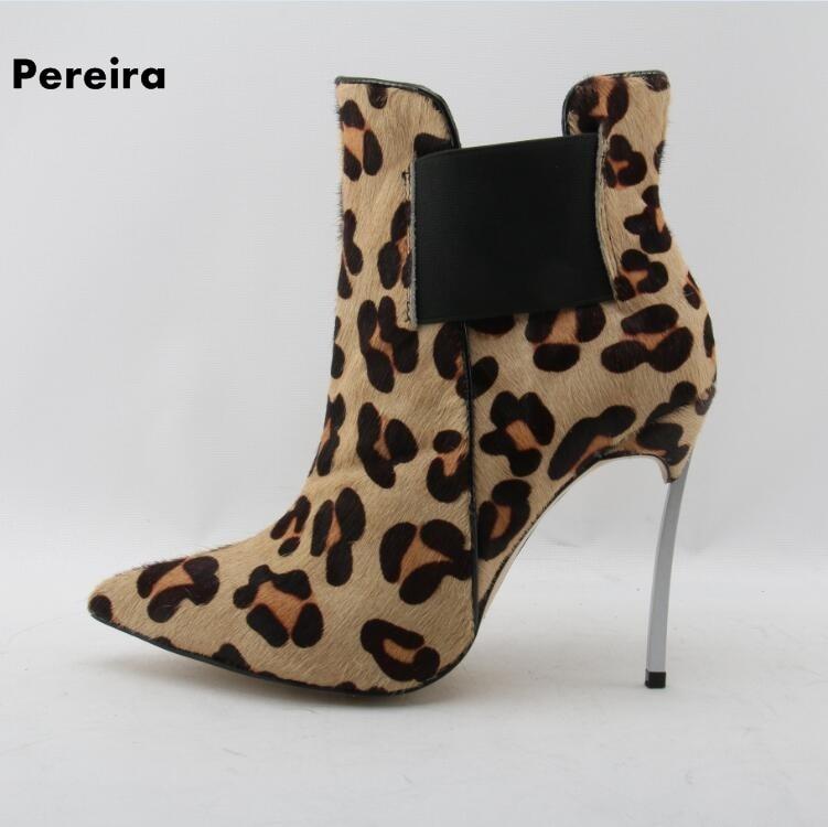 Здесь продается  2018  leopard slip-on ankle woman boots pointed-toe thin high heel winter woman boots shallow high quality woman boots classic   Обувь