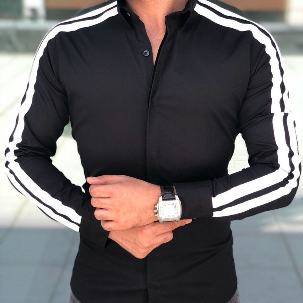 2018 Spring Autumn Features Shirts Men Casual Shirt New Arrival Long Sleeve Luxury Casual Slim Fit Male Shirts