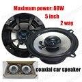 5 pulgadas de altavoces del automóvil coaxial de Audio del coche del coche estéreo de audio altavoces un par instalado de 2 vías 2x80 W para todos los coches