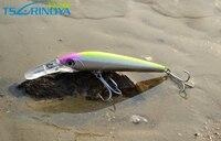 1ピース深いダイビング5メートル大きなミノー人工餌228ミリメートル85グラム釣りルアーワブラートローリングルアーは長い舌ミノー