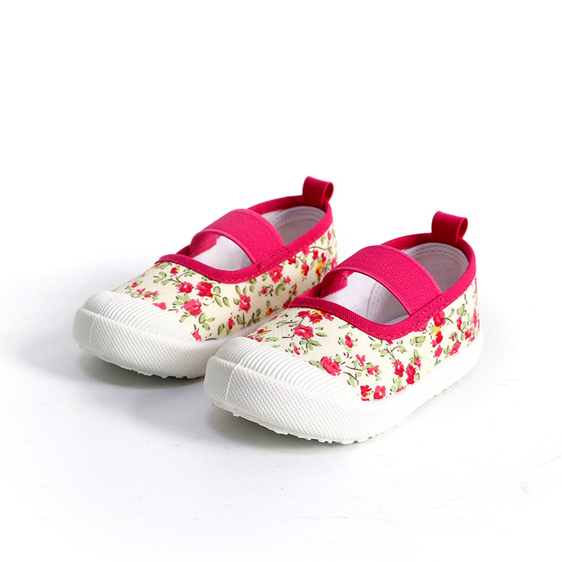 17 children's spring kids baby girls Candy colors floral princess shoes canvas sneakers Toddler infantil shoes for girls 6