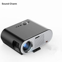 New GP90 Latest Handheld HD 1080P Home Cinema LED Projector HDMI Digital Video Game LCD 3D Proyector Beamer LED Lamp long