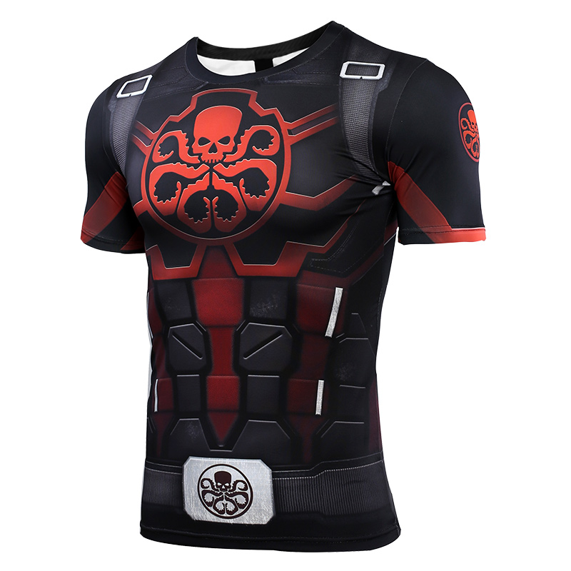 HYDRA Captain New 3D Compression Shirt Printed T shirts Men Compression Shirt Cosplay Quick drying clothes For Gyms T Shirts in T Shirts from Men 39 s Clothing