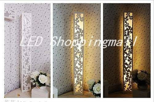 Brand New Parchment Led Floor Lamp Of Carved Oriental Style Lovely Light Figured With Floating Flower In Lamps From Lights Lighting On