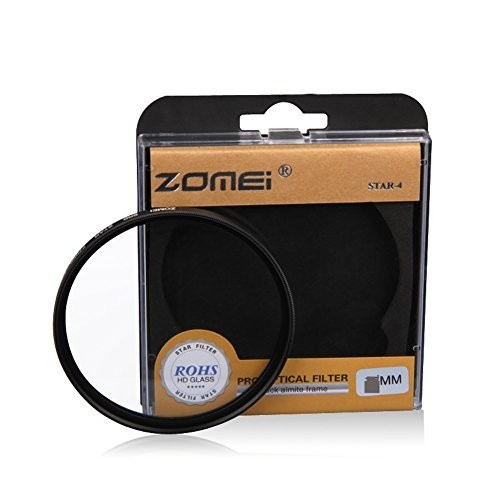 F15084 Zomei 67mm Night View Snowflake Cross Twinkle Effect Star Filters for Canon 18-135 Nikon 18-105 DSLR Camera - 6 Point