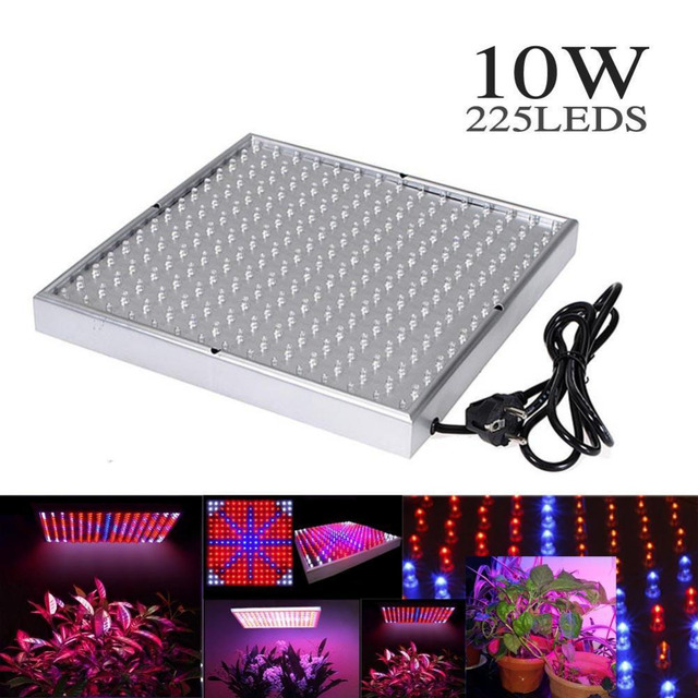 Quad Band 10 Watt 225 LED Wachsen Licht Panel Wasserkulturanlage Wachsen  Lampe 4 Farbig