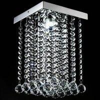 Fashion Square Crystal Ceiling Lamp LED Lamp Restaurant Corridor High Power LED Lamp Led Lustre Light