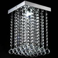 Mode Carré cristal plafond lampe LED lampe restaurant couloir haute puissance LED lampe led lustre lumière led Plafonniers WCL027