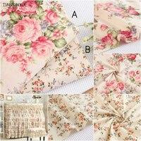 Выберите размер 100% хлопок ткань саржа цветок DIY для сельских скатерть в горошек Вышивание лоскутное стежка s