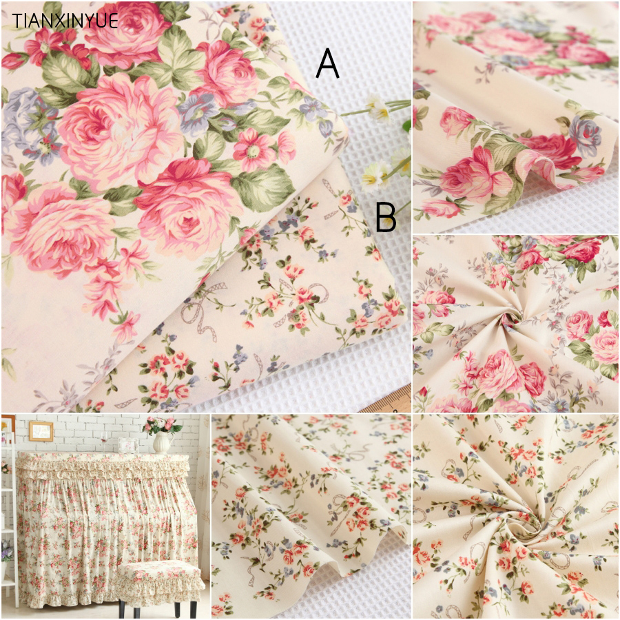 Choose size 100 cotton fabric twill flower fabric diy for for Bedding fabric bedding