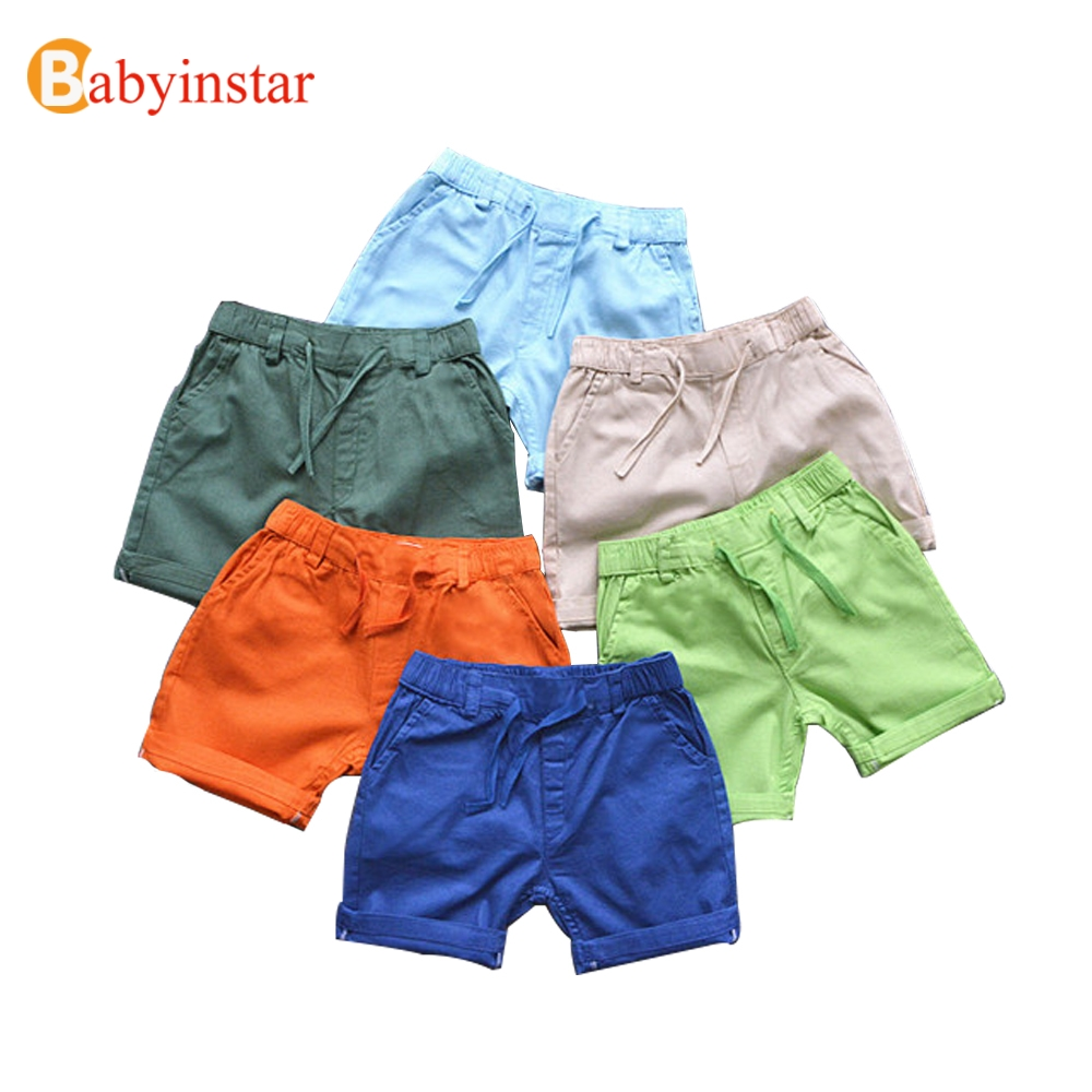 Babyinstar New 2018 Children Shorts Candy Color Drawstring Cotton Boys Bottom Kids Trousers Casual High Quality Boy Shorts ...