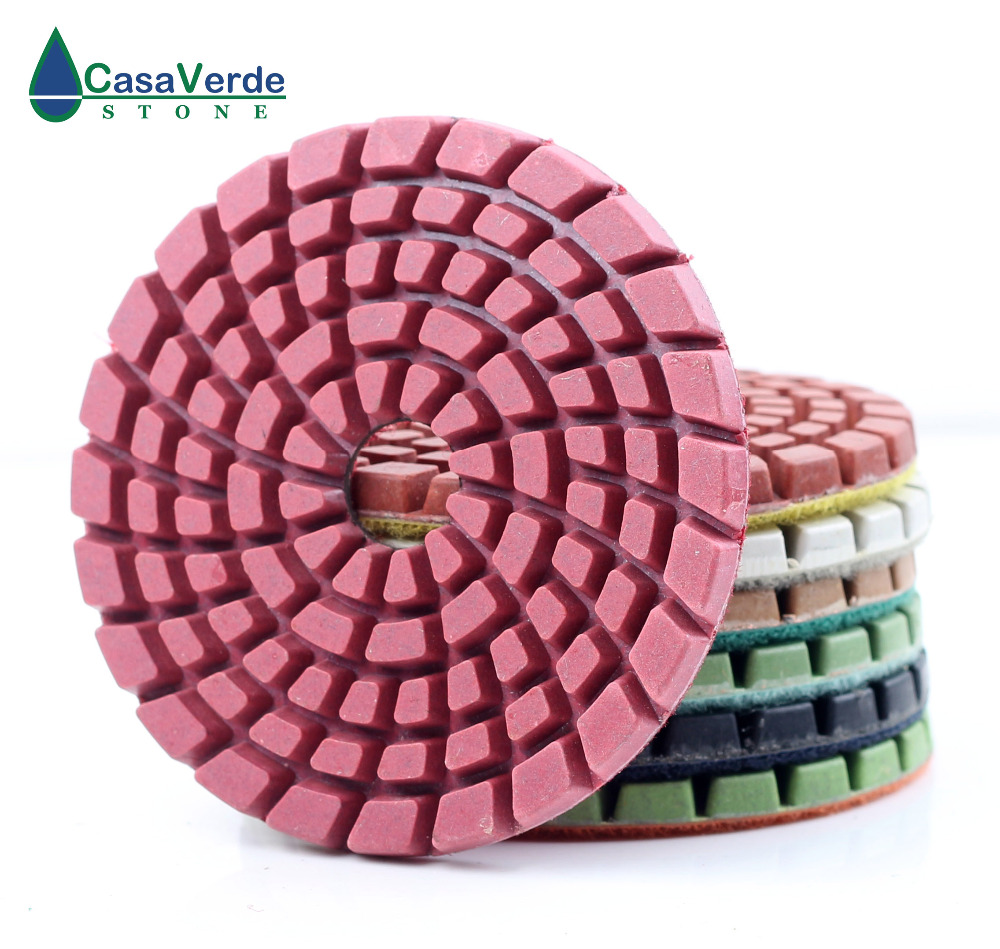 1pc/lot Order By Grit Diamond 4 Inch 100mm Wet Floor Polishing Pads For Stone Or Concrete Floor With Free Shipping