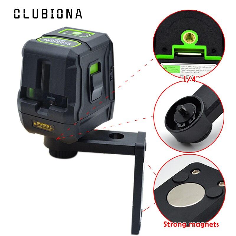 CE certificated Queda proteção Palma precisas linhas de auto-nivelamento de inclinação barra VERDE FEIXE laser nível laser com suporte magnético