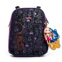 Delune مصنع جودة الأطفال الكرتون الحقائب المدرسية الفتيات الصف 1-3 الطلاب العظام حقيبة حقيبة المدرسة الصلب غطاء 4- 036