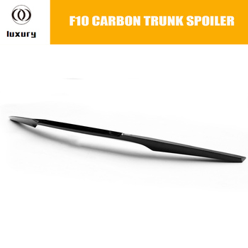 M4 Style F10 Carbon Fiber Rear Trunk Lid Lip Wing for BMW F10 5 Series 4 Door & F10 M5 2010 - 2016 Auto Racing Car Styling image