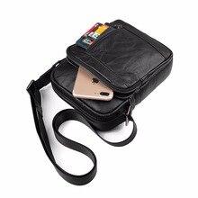 купить J.M.D New Product Genuine Leather Black Men Messenger Bags Simple Design Cross Body Bags And Shoulder Bag 1040A по цене 1999.68 рублей