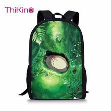Thikin Totoro School Bag for Teenager Boys Cartoon Backpack Girls Travel Luggage Package Shopping Shoulder Bag Women Mochila недорого