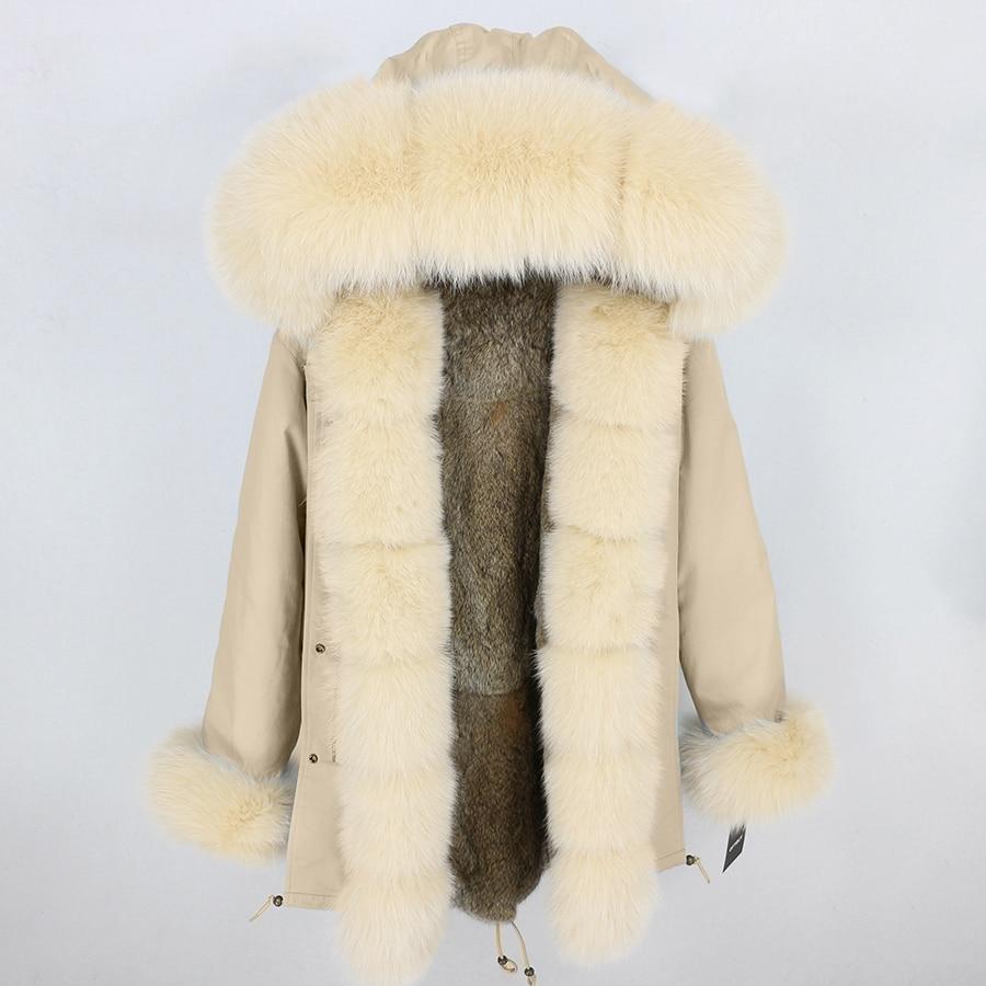 OFTBUY 2019 Winter Jacket Women Long Parka Real Fox Fur Collar Hood Natural Rabbit Fur Liner Thick Warm Parkas Streetwear Luxury