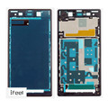 New Bezel Frame Front Housing Frame Bezel Plate For Sony Xperia Z1 L39h C6903 Black &Free Shipping