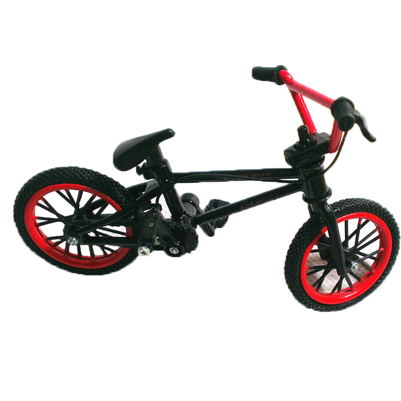 Professional Flick Trix Red and Black Finger Bmx Diecast Nickel Alloy Stents Finger Bikes Adult Novelty Toy Bicyclist Collection