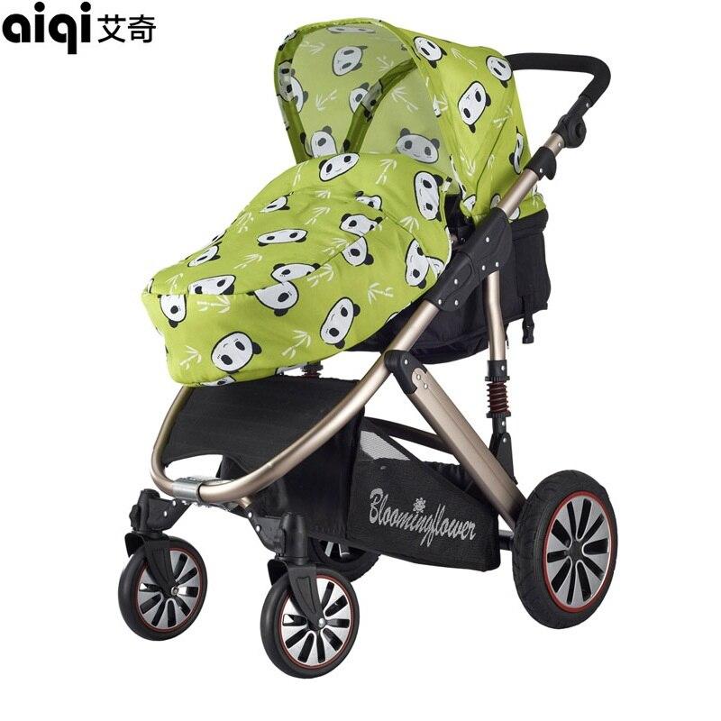2017 Promotion New Baby Aiqi Stroller Buggy Cart Carriage Portable Foldable With Aluminum Alloy High Landscape Pram Pushchair сверло по дереву спиральное bosch 2608596309