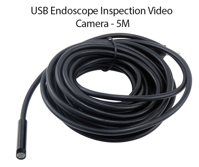 Antscope USB Endoscope Camera 2M 5M 10M 15M Snake Tube Mini USB Borescope Inspection Camera for PC Inspection Endoscopic Camera