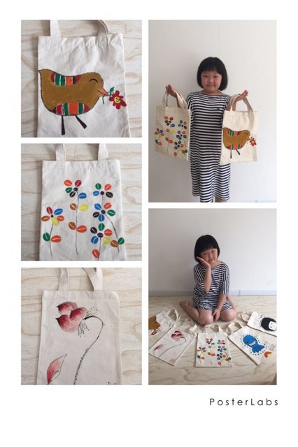 cotton bag with paiting