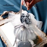 2019 Hot sale new Arrive Lace Wedding Favors and Gift Box Package Birthday Party Favor Bags velvet Candy Box Supplies 50pcs/lot