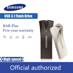 SAMSUNG unidad de memoria USB BAR PLUS de 32GB 64GB 128GB 256GB USB3.1 pen drive hasta 300 MB/S memoria pendrive memoria Flash USB