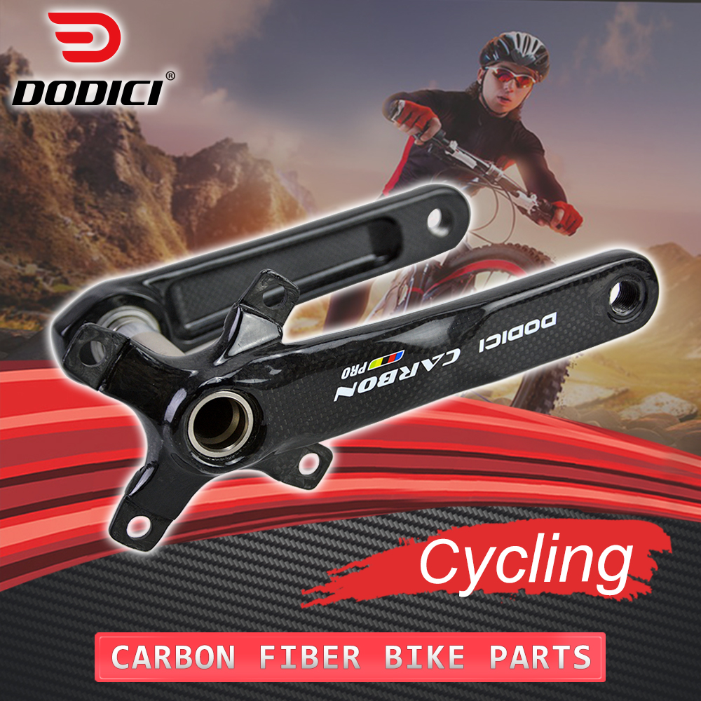 DODICI Pro Carbon Crankset MTB Bicycle BCD 104mm 4 Claws Carbon Fiber Crank set 170mm Mountain 3k Gloss Cycling Crank Bike Parts octane one звезда evo bcd 4 x 104mm 38t зелёная