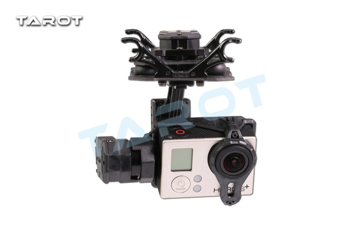 Tarot GOPRO T4-3D Double Shock Absorber Gimbal Anti-vibration 3 Axle Dual suspension 3 axis for GOPRO4 Gopro3 Camera TL3D02 pannovo waterproof pu leather extra thick anti shock eva case for gopro hero 4 3 3 2 sj4000